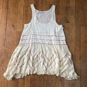 FREE PEOPLE NWOT VOILE AND LACE TRAPEZE SLIP